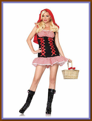 Leg Avenue Little RED HOT RIDING HOOD M/L(10-14) Sexy Adult Womens Costume -NEW Adult Red Hot Riding Hood