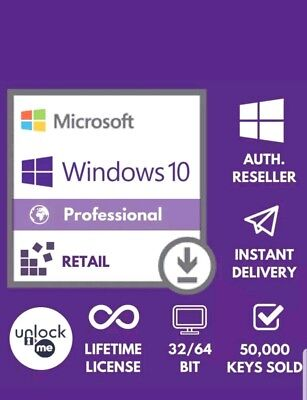 MICROSOFT WINDOWS 10 PRO 32 64 BIT PROFESSIONAL LICENSE KEY INSTANT DELIVERY NEW
