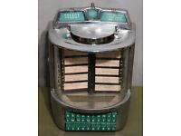 Vintage 1950s WURLITZER Wallbox Table Top Jukebox Selection box 100 Plays
