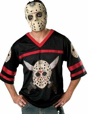 Adult JASON VOORHEES Hockey Shirt + Mask Friday 13th Fancy Dress Costume - Men's Hockey Kostüm