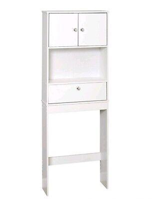 Over Toilet Storage Cabinet Shelf Bathroom Space Saver Rack Organizer White NEW