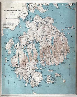 1893 Map of Mount Desert Island Maine