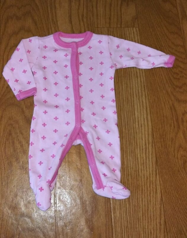 ⭐ Baby Girl Clothes ⭐ pink Pajamas ⭐ One Piece ⭐ loveable Friends ⭐ Preemie ⭐