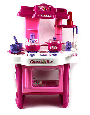 "24"" Beauty Kitchen Appliance Cooking Toy Play Set Children L"