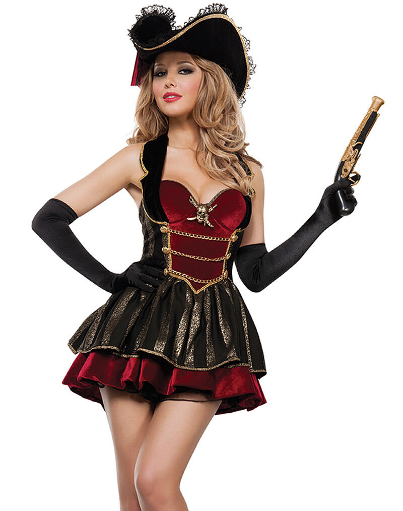 COSTUME PIRATE LUXURY BUCCANEER CORSAIR ISLA OF THE TREASURE ...