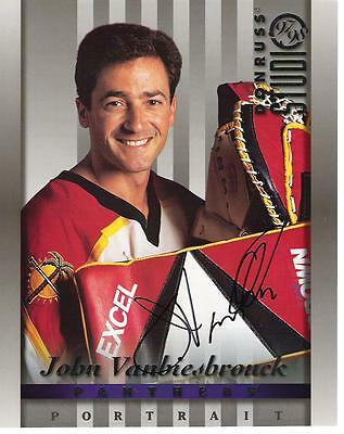John Vanbiesbrouck 8x10 AUTOGRAPH DONRUSS STUDIO PHOTO SIGNED