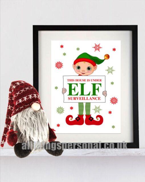 Elf Surveillance Poster Print - Fun Christmas Gift Decoration For On The Shelf 2