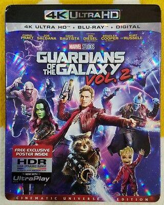 Guardians Of The Galaxy Vol  2   4K Ultra Hd   Blu Ray  Free Shipping No Digital