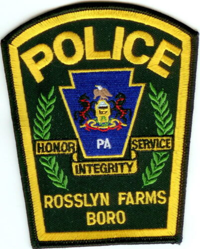 Rosslyn Farms Police Patch Pennsylvania PA