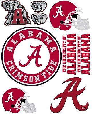 Alabama Crimson Tide Scrapbooking Craft Sticker Sheet Set #1