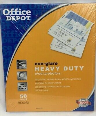 Office Depot Brand Super Heavyweight Non-glare Sheet Protectors Pack Of 50