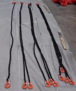 NEW GRADE 80 CRANE RIGGING CHAIN LIFTING SLINGS 1 2 3 4 LEG SET