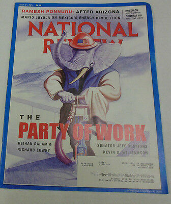 National Review Magazine The Party Of Work March 2014 071814R