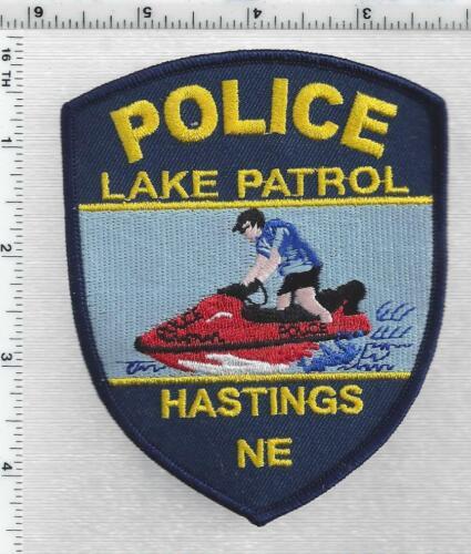 Hastings Police Lake Patrol (Nebraska) 1st Issue Shoulder Patch