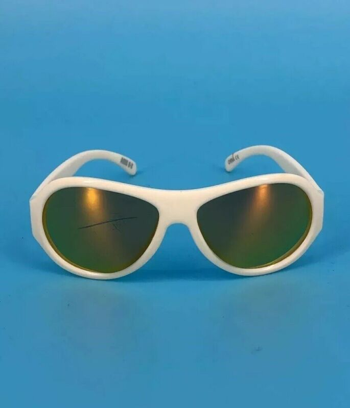 Babiators Kids Sunglasses White Plastic Aviator Youth Boys Girls As Is 0 1 2T 3T