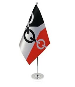 BLACK-COUNTRY-DELUXE-SATIN-TABLE-FLAG-9-X6-CHROME-POLE-BASE-Stands-15-UK