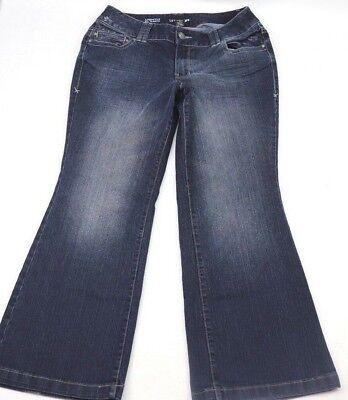 Lane Bryant Womens Jeans Lightly Flared Size 14 Petite Dark Blue Denim 29 Inseam ()