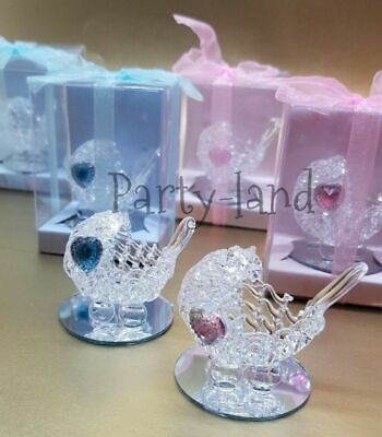 Baby Shower Carriage (12 Crystal Carriage Baby Shower Favors Girl & Boy Party)