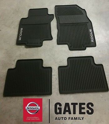 2014 & Up Nissan Rogue OEM Rubber All Weather FLoor Mats (new body style only)