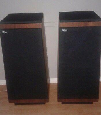 Vintage Ohm Model I Pair of Speakers Electrodynamic Speaker System NICE COND