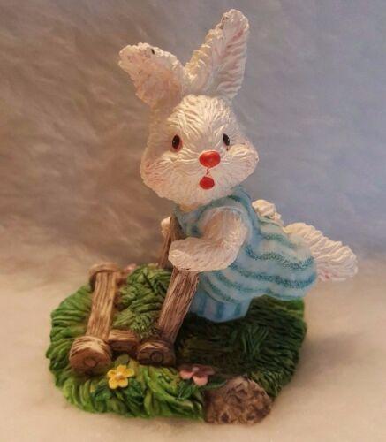 "Simon Giftware Multi Color Bunny Rabbit With Mower 3.5"""