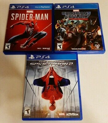 Spider-Man, Guardians of The Galaxy Telltale & The Amazing Spider-Man 2 (ps4)