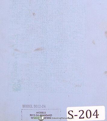 Scotchman 9012-24 24m Ironworker Machine Operation Parts Manual 1995