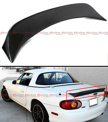 For 99-05 Mazda Miata NB 2nd Gen JDM Carbon Fiber High Kick Trunk Spoiler Wing
