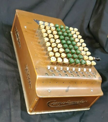 Original 1930 S Comptometer/Felt Tarrant, Chicago Model ST Calculator Machine - $39.00
