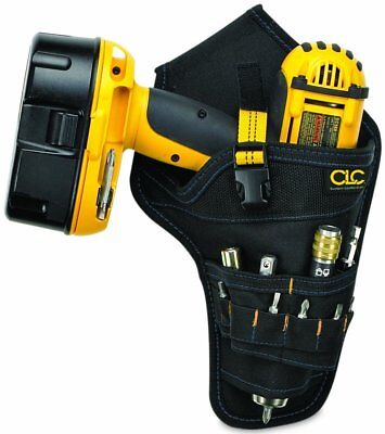 CLC Custom Leathercraft 5023 Deluxe Cordless Poly Drill Holster, Black - Deluxe Cordless Drill