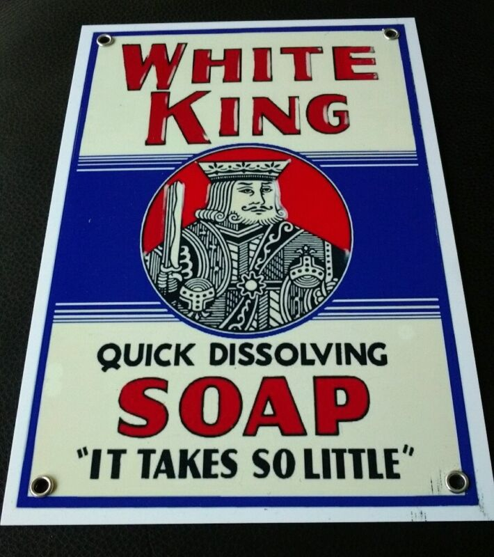 White King Soap sign ... detergent,  laundry
