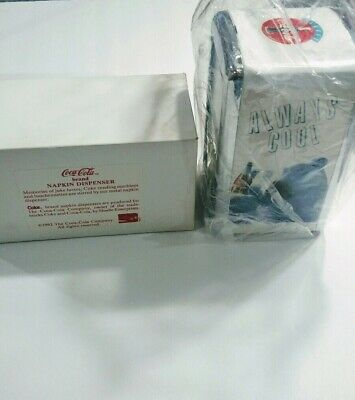 Vintage Coca Cola Napkin Dispenser 1994  'Always Cool ' With Box Napkin Holder
