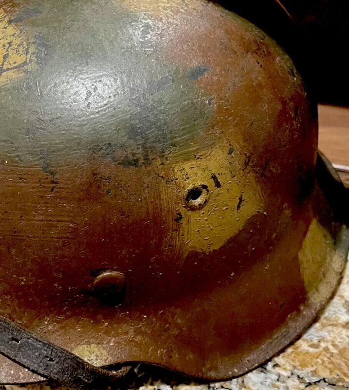 """ww2 wwii original german helmet Normandy Camo, """" Real Deal"""""""