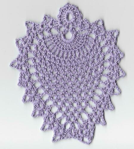 Pineapple Coaster Crochet handmade Orchard applique doily