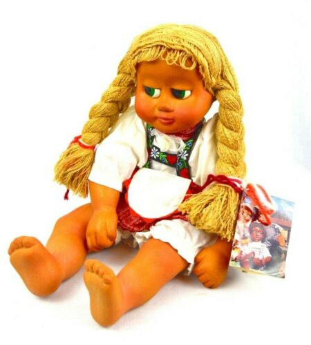 RARE Naber Wooden Doll Darina 1988 Braids With Certificate Vintage Collectible