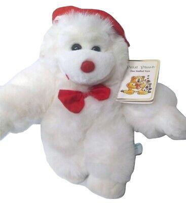 New Vintage White Captain Monkey Stuffed Animal Petal Plush Toy Valentine's Day
