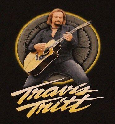TRAVIS TRITT GUITAR COUNTRY MUSIC CONCERT BLACK T SHIRT TEE TSHIRT ADULT XXL NEW
