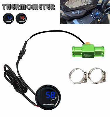 KOSO LCD Digital Thermometer Water Temperature Sensor Gauge Display Motorcycle