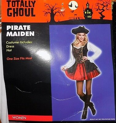NEW Women's Adult  Pirate Maiden Lady Dress Costume One Size NWT - FREE SHIPPING](Pirate Maiden Costume)
