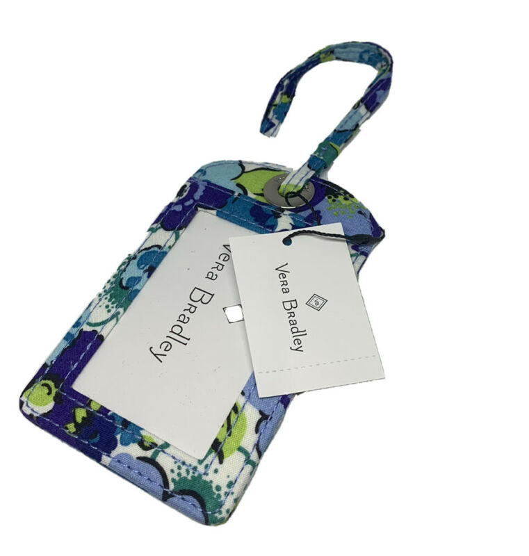 NWT Vera Bradley Luggage Tag in Blueberry Blooms