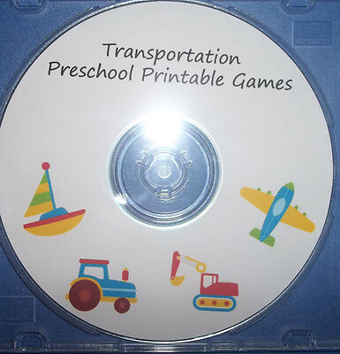 Transportation themed preschool learning games and worksheets. ...