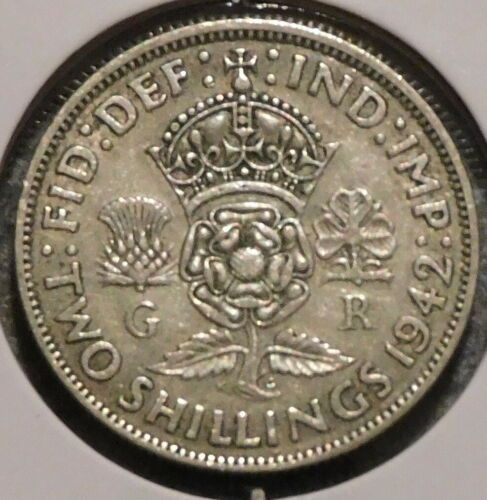 British Florin - 1942 - Overstock Sale! - $1 Unlimited Shipping -46