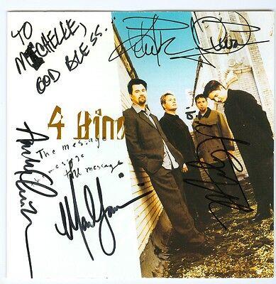 4 Him autograph signed CD andy chrisman mark harris kirk sullivan marty magehee