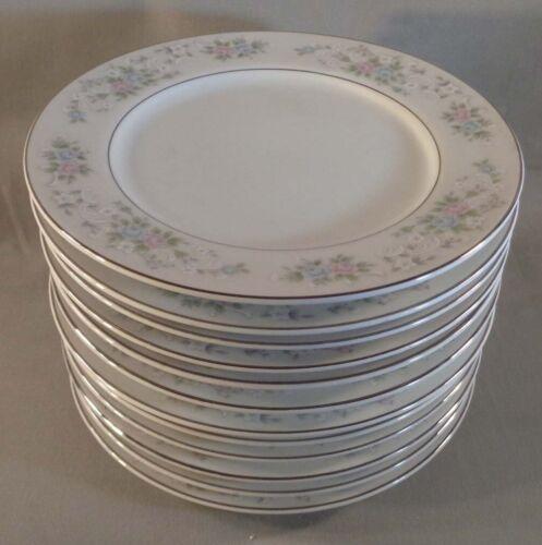 "Set of 12 Carlton China Corsage 481 6-1/4"" Bread Plates Japan"