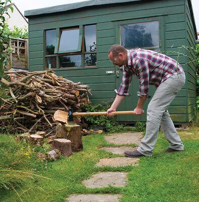 Hardwood Log Splitting Maul Axe 6lb 2.72kg Cutting Wood Chopper Logs Tree...
