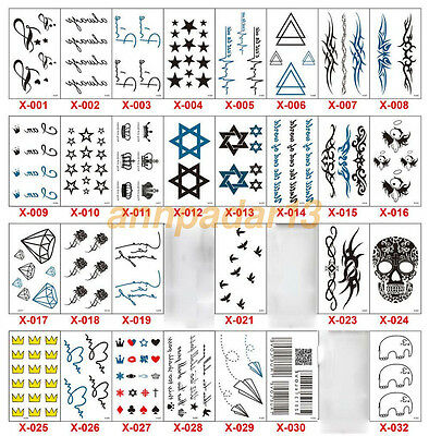 New Design Flash Tattoo Removable Waterproof Butterfly Stickers Body Art Tatoo (Butterfly Tatoo)