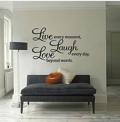 GOOD Word Decal Vinyl Home Room Decor Art DIY Wall Stickers Bedroom Removable