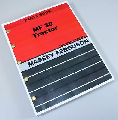 Massey Ferguson Mf30 Industrial Turf Tractor Parts Catalog Manual 1970-1976