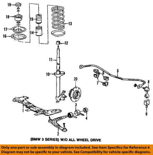 Bmw 96 02 Z3 Front Suspension Spring Insulator 31331128523 Ebay