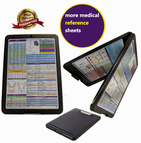 Nursing Storage Clipboard  -BLACK  -reference sheets -great for clinical